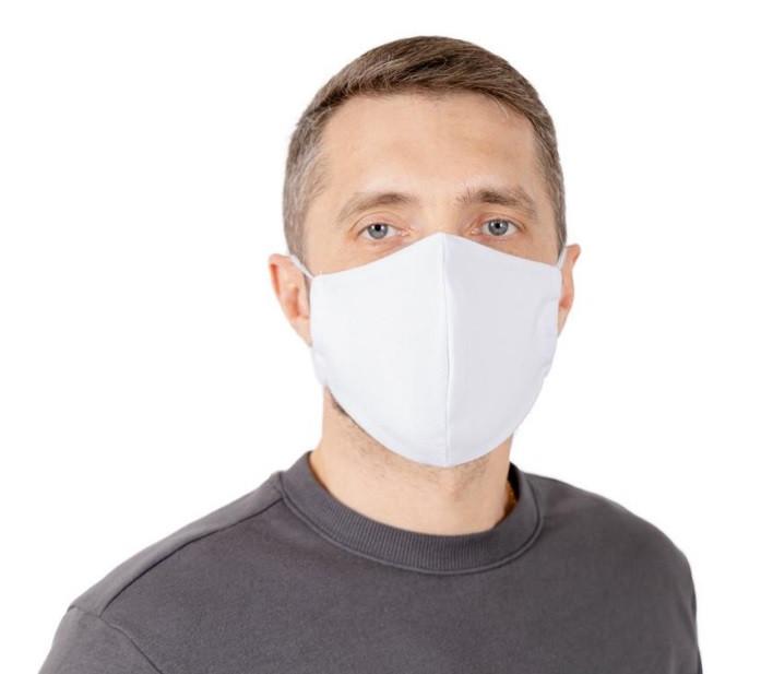 Защитная маска многоразовая для лица Природа белая 22*15 см