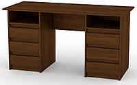 Стол письменный Декан-3 Орех экко КОМПАНИТ (140х60х73.6 см), фото 1