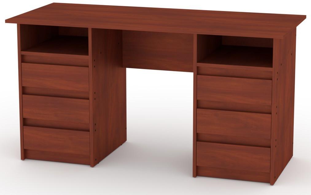Стол письменный Декан-3 Яблоня КОМПАНИТ (140х60х73.6 см)