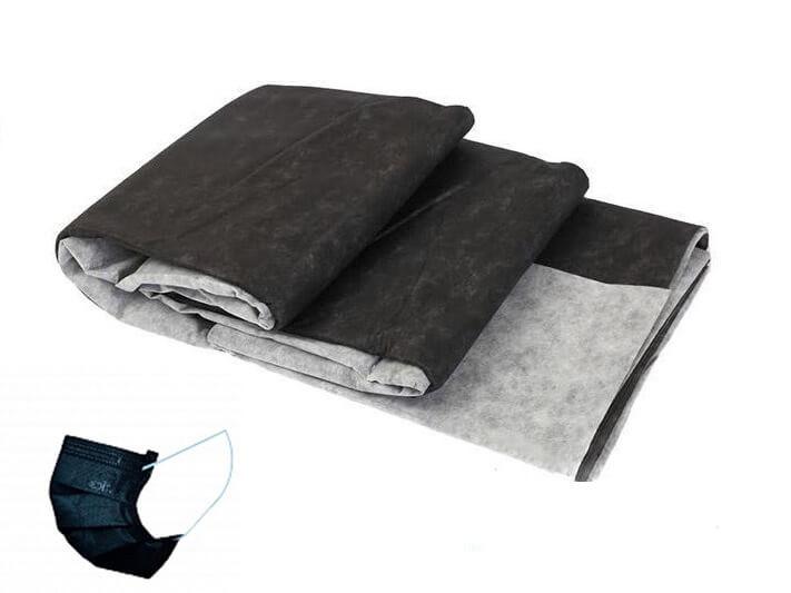 Спанбонд для масок черно-белый фасованный 50 г/м2