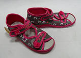 Детские текстильные тапочки, босоножки для девочки тм Viggami (Польша) 27р, фото 2