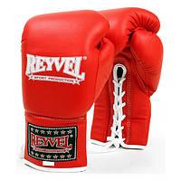 REYVEL Перчатки боксерские ,ПРО, Кожа  8 унций