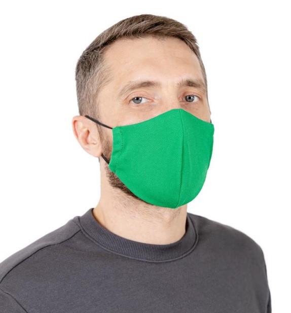 Защитная маска многоразовая для лица Природа зелёная 22*15 см