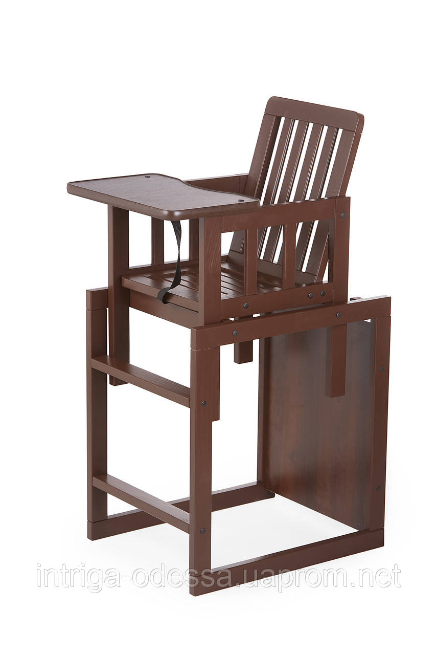 Дитячий дерев'яний стілець-трансформер для годування TORTUN