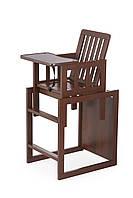 Дитячий дерев'яний стілець-трансформер для годування TORTUN, фото 1