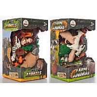 Фигурка животныхXTY-083-84-85B, деревья, игровое поле, 3 вида (животные/динозавры), в колбе