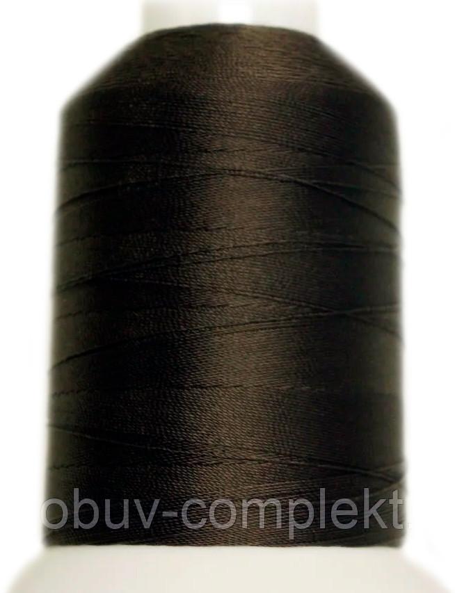 Нитка Титан №20 2000 м. Польща колір (2570) темнокоричневий