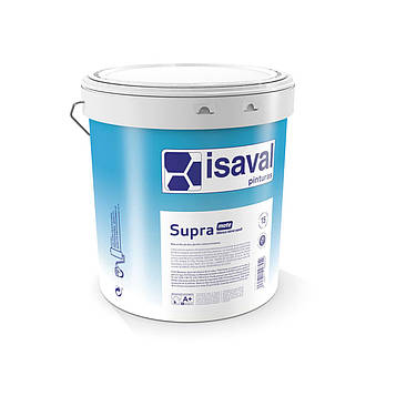 Краска акриловая глубокоматовая  антигрибковая СУПРА  ISAVAL 4л до 48м2/слой