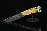 """Эксклюзивный нож ручной работы в подарок овну """"Ibex"""", дамасск"""