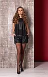 Шорти жіночі чорні шкіряні Style-nika Пунто., фото 3