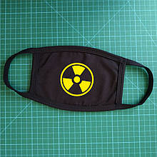Тканевая сувенирная маска для лица. Радиация