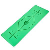 Килимок для йоги з розміткою PU 5мм Record FI-8307 (розмір 1,83мх0,68мх5мм, кольори в асортименті), фото 1