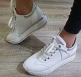 Кеди на платформі Inshoes білі, фото 5