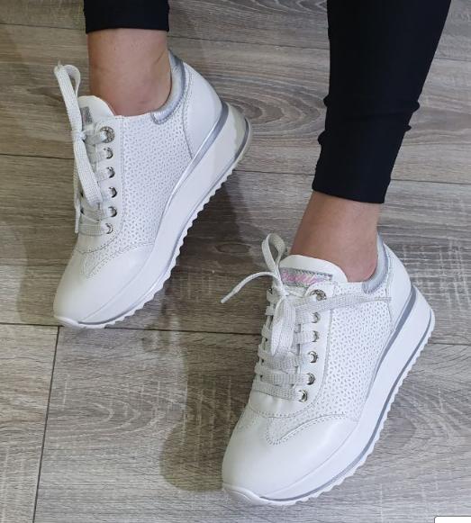 Кеди на платформі Inshoes білі