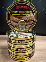Шпроты подкопченные в растительном масле Szprot podwedzany Польша,160г., фото 1