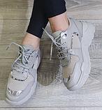 Жіночі кросівки Inshoes сірі, фото 3