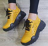Кросівки жіночі Inshoes жовті, фото 2