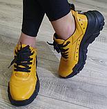 Кросівки жіночі Inshoes жовті, фото 3