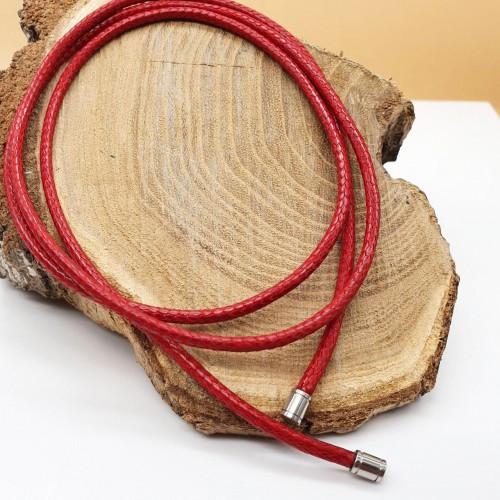 Червоний шнурок на шию без застібки діаметр 3,5 мм 175669