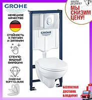 Комплект унитаз подвесной Grohe Solido Perfect 39192000 + инсталляция Grohe 4 в 1 38772001