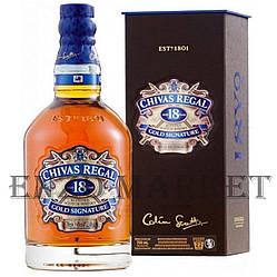 Віскі Chivas Regal 18 y.o. (Чівас Ріґал 18 років) 40%, 0,75 літр