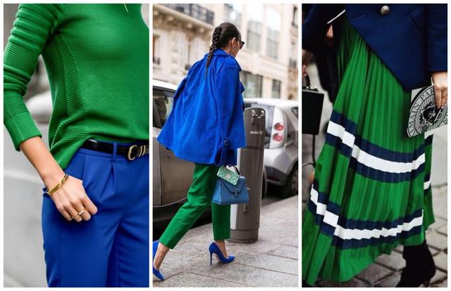 сочетание синего и зеленого цветов