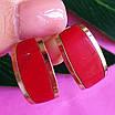 Срібні сережки з яшмою і золотом, фото 5