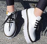 Туфлі жіночі на платформі Inshoes білі, фото 2