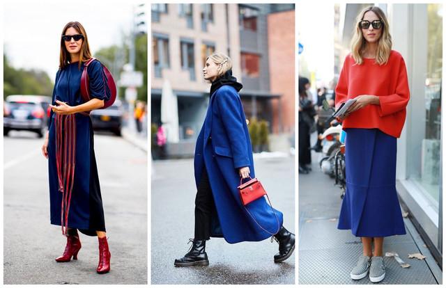синий и красный в одежде