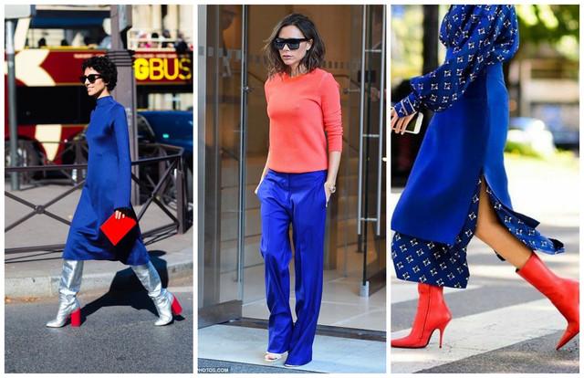 сочетание синего и красного цвета в одежде