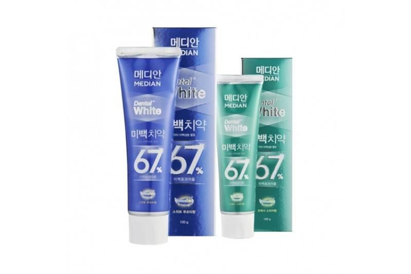 Отбеливающая зубная паста Median Dental White 67% Toothpaste 100г
