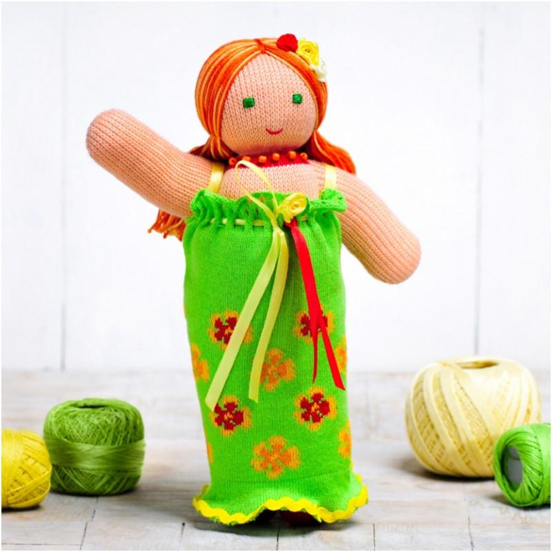 Вязаная кукла ФРЕЯ «Фея Цветов»