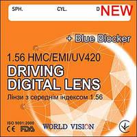 Лінза для водіїв Driving Blue Blocker Помаранчева HMC+EMI+UV420 індекс 1,56 World Vision