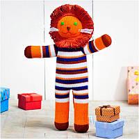 Вязаная кукла ФРЕЯ «Львёнок Боня»