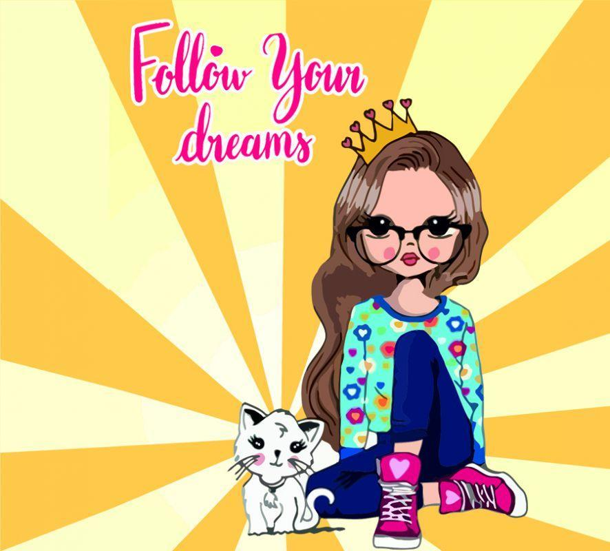 "Картина по номерам. Rosa ""Follow your Dreams"" 35х45см N00013260"