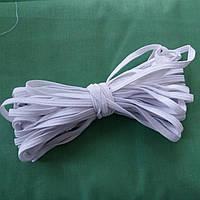 Резинка бельевая белая узкая, ширина 5 мм, моток 10 метров