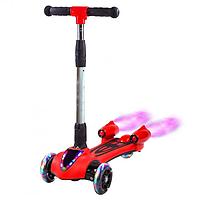 Турбосамокат детский Racer Pro самокат с дымом и музыкой Красный