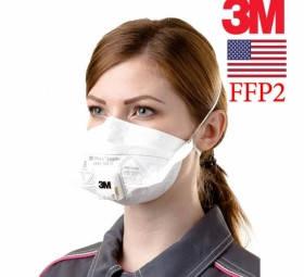 Респиратор маска 3M FFP2 с клапаном (9162e) ОРИГИНАЛ 15 штук