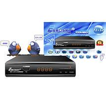Ресивер Спутниковый и Т2 тюнер комбинированный DVB-S2/T2/С Eurosky ES-19 HD Combo черный
