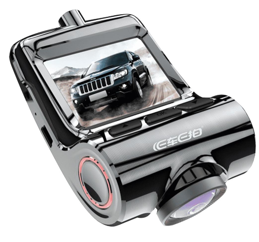 Відеореєстратор автомобільний WI-FI з двома камерами DVR V1 6743 чорний