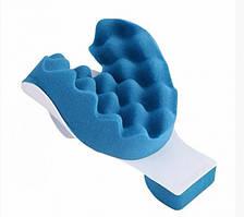 Релаксатор для шиї і плечей масажна подушка UKC Pillow синій