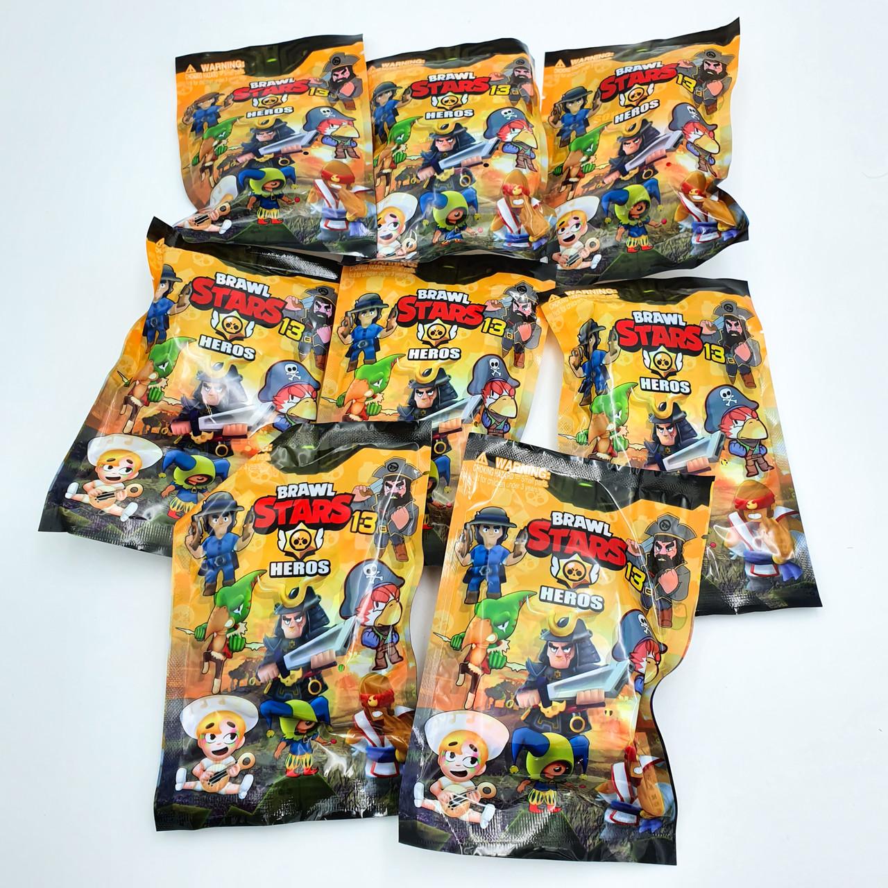 Фігурки Бравл Старс ігрова карта в комплекті з фігуркою 7 см 8 героїв Brawl stars Heros 13