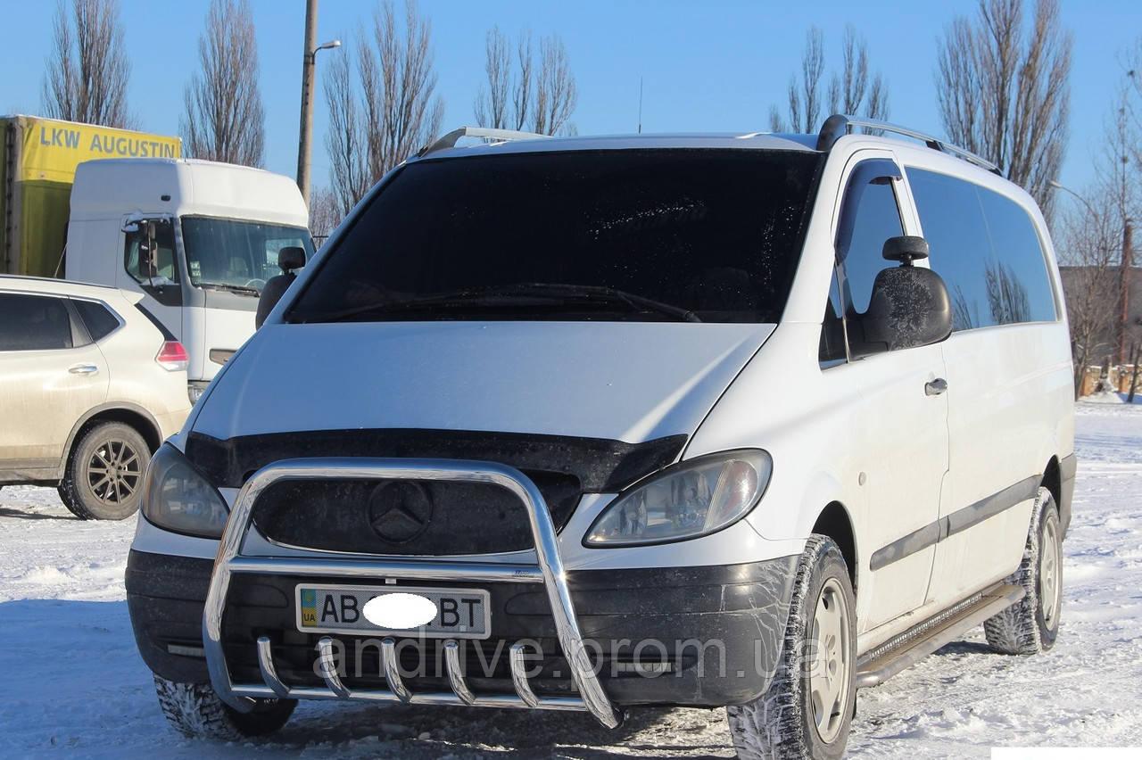 Кенгурятник высокий (защита переднего бампера) Mercedes Vito W639 2003-2009