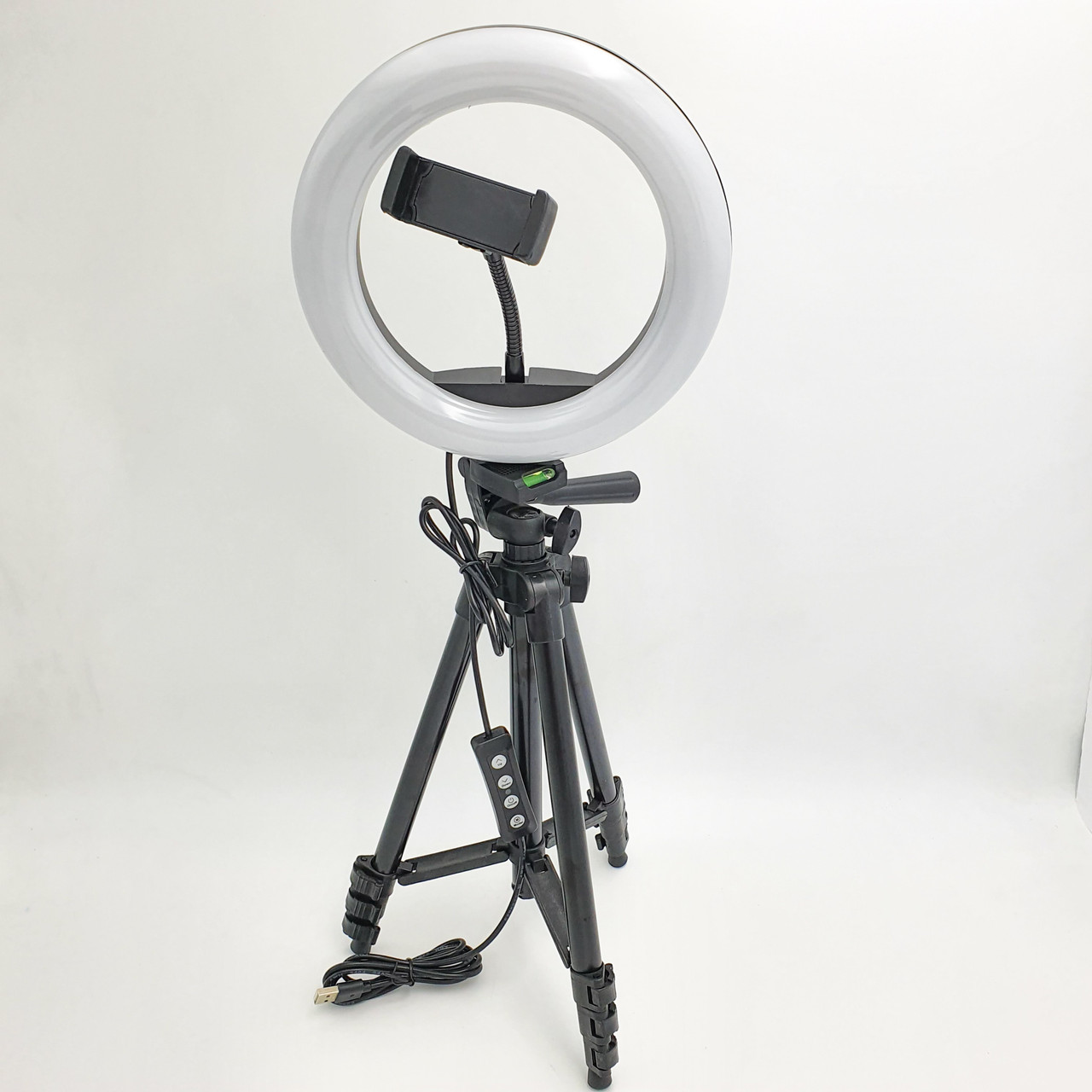 Набір блогера 2 в 1 кільцева LED лампа 20 см 10W з тримачем для телефону і штатив 102 см селфи кільце 3 режими світіння