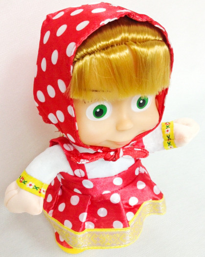 Танцююча повторюшка лялька Маша інтерактивна 20 см в горошок