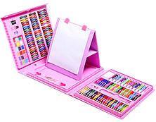 Набір для малювання та творчості з мольбертом у валізці 208 предметів Super Mega Art Set рожевий