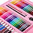 Набор для рисования и творчества с мольбертом в чемоданчике 208 предметов Super Mega Art Set розовый, фото 6