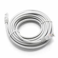 Патч корд высокоскоростной сетевой UTP LAN кабель для интернета до 1000Мбит/с Gigabit Ethernet 1 Гбит/с  20 м Белый