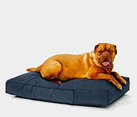 Лежак для собак Оксфорд 115х75 с чехлом Темно Синий