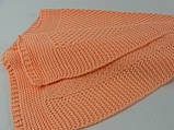 Плед детский Вязаный 100х120, персиковый, фото 3